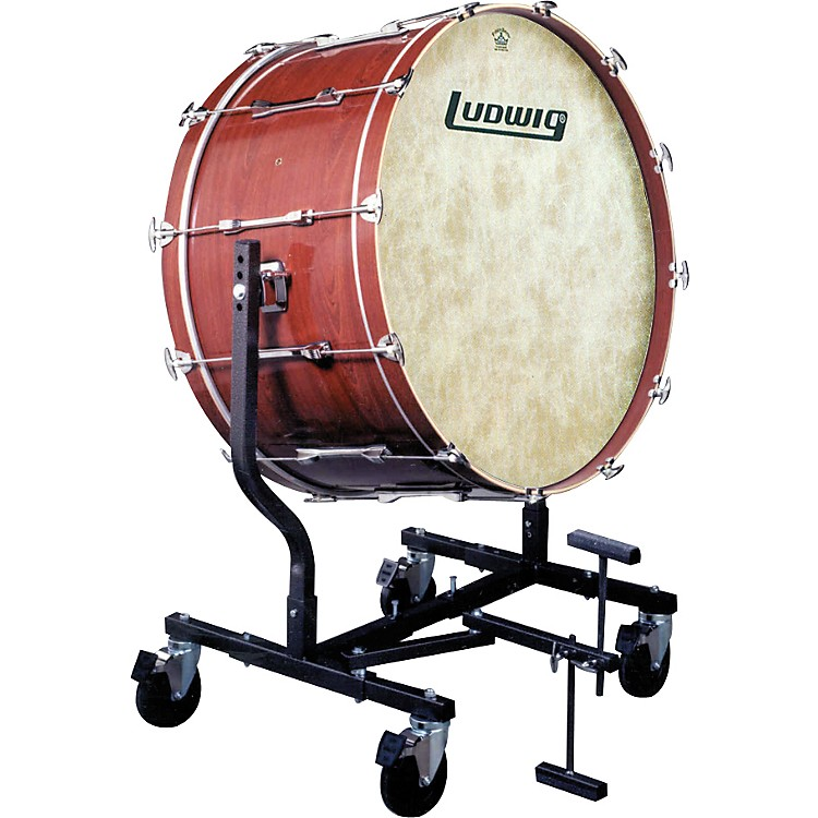 LudwigConcert Bass Drum w/ Fiberskyn Heads & LE787 StandMahogany Stain18x40