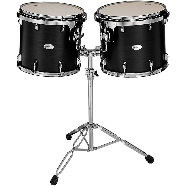 Black Swamp PercussionConcert Black Concert Tom Set with Stand15 and 16 in.