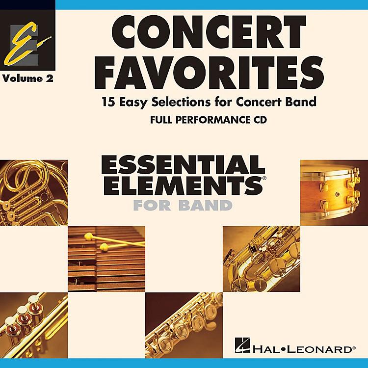 Hal LeonardConcert Favorites Vol. 2 - Full Performance CD Concert Band Level 1-1.5 Arranged by Michael Sweeney