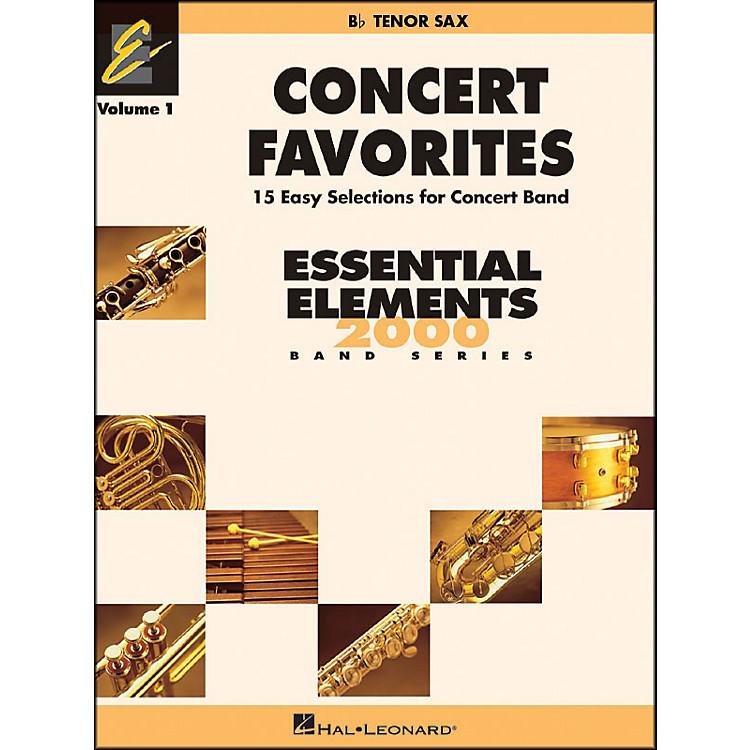 Hal LeonardConcert Favorites Vol1 Bb Tenor Sax