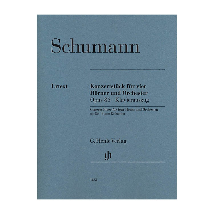 G. Henle VerlagConcert Piece for Four Horns and Orchestra, Op. 86 Henle Music Softcover by Schumann