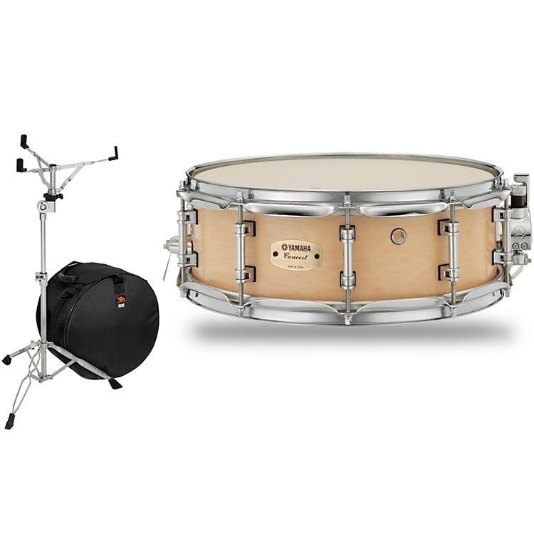 Yamaha Concert Series Maple Snare Drum with Stand and Free Bag 14 x 5 in.