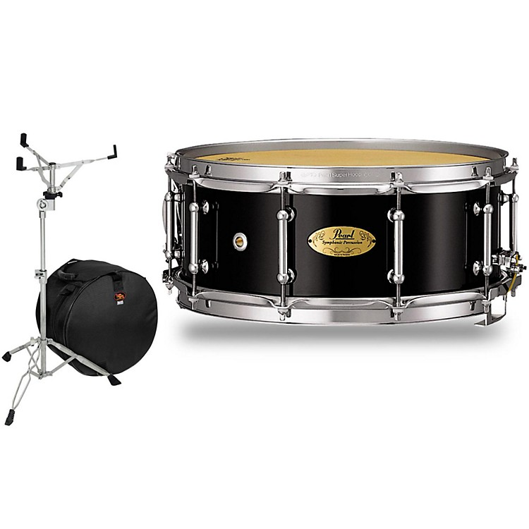 PearlConcert Series Snare Drum with Stand and Free Bag14 x 5.5 in.Natural