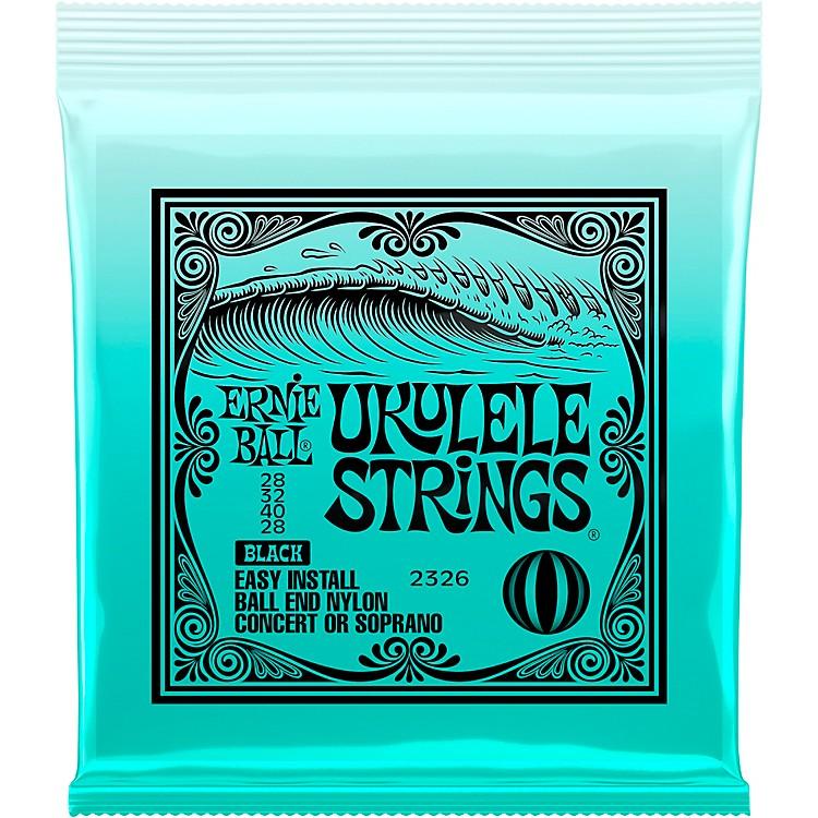 Ernie BallConcert/Soprano Nylon Ball-End Ukulele Strings - BlackSoprano/Concert