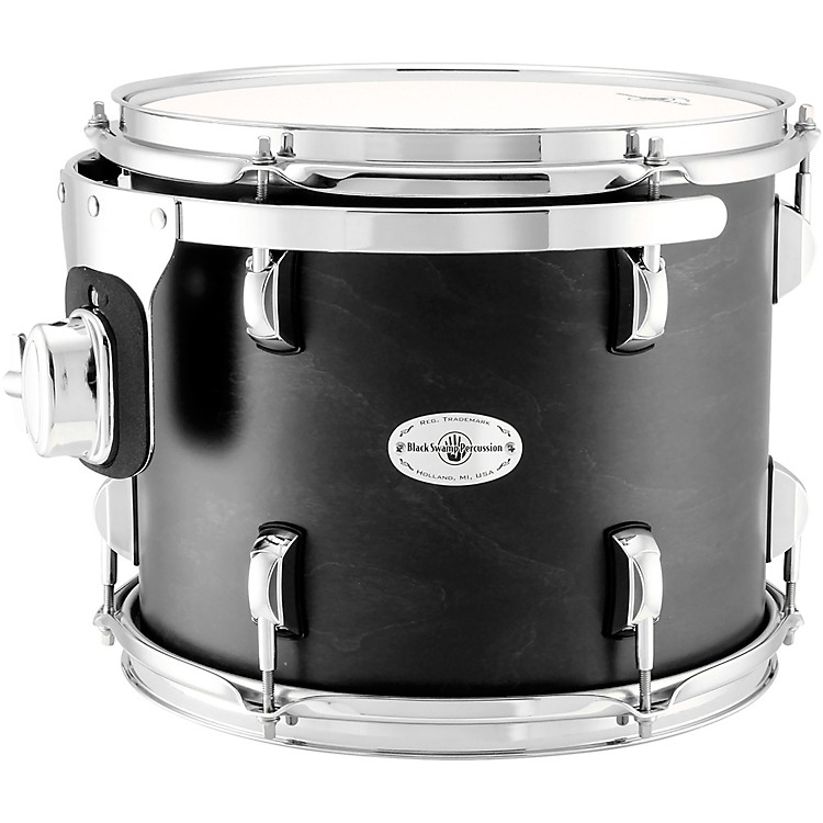 Black Swamp Percussion Concert Tom in Satin Concert Black Stain 12 in.