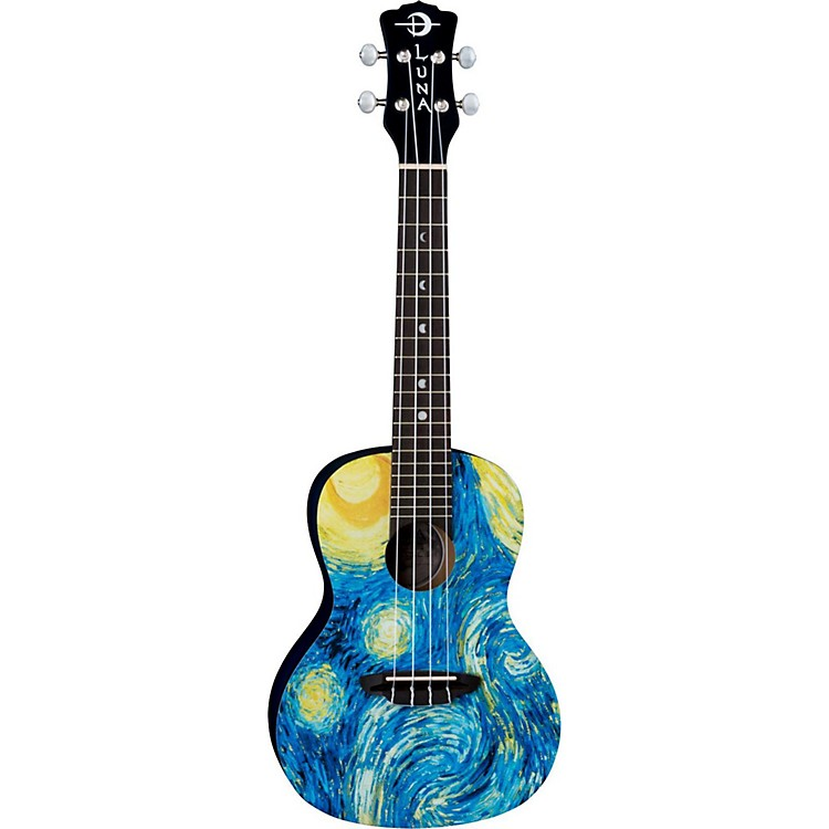 Luna Guitars Concert Ukulele Starry Night