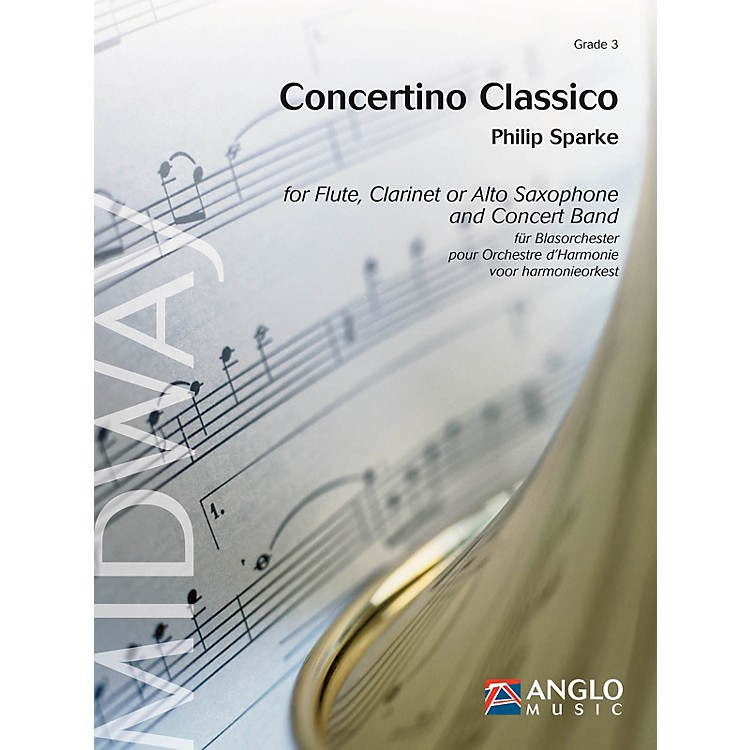 Anglo Music Press Concertino Classico for Flute and Concert Band Concert Band Level 4 Composed by Philip Sparke