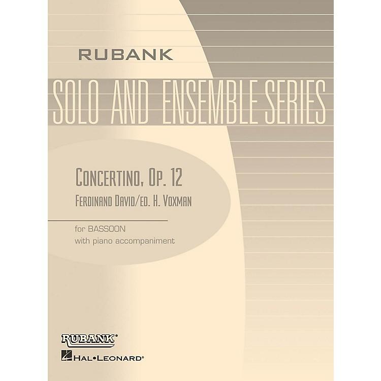 Rubank PublicationsConcertino, Op 12 (Bassoon Solo with Piano - Grade 4) Rubank Solo/Ensemble Sheet Series
