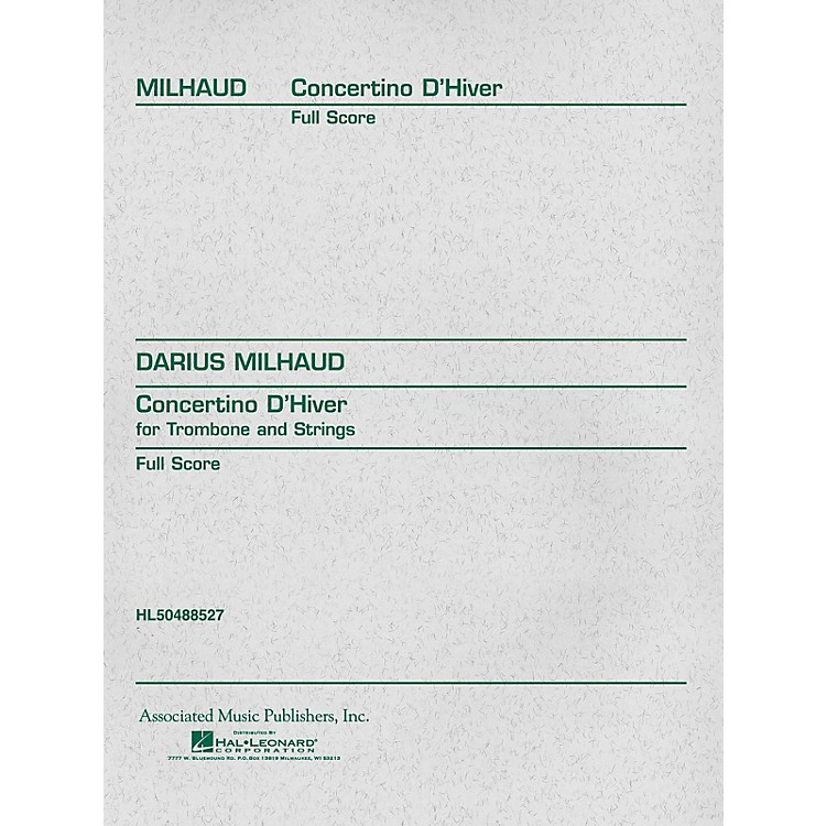 Associated Concertino d'Hiver (Full Score) Study Score Series Composed by Darius Milhaud
