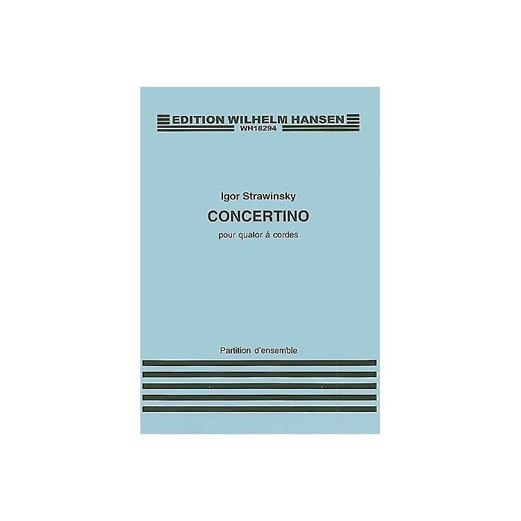 Wilhelm HansenConcertino for String Quartet Music Sales America Series Composed by Igor Stravinsky