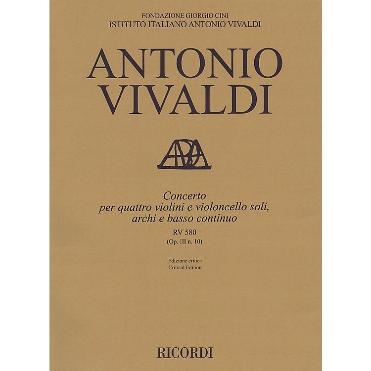 RicordiConcerto B Minor RV 580, Op. III No. 10 String Orchestra Series Softcover Composed by Antonio Vivaldi