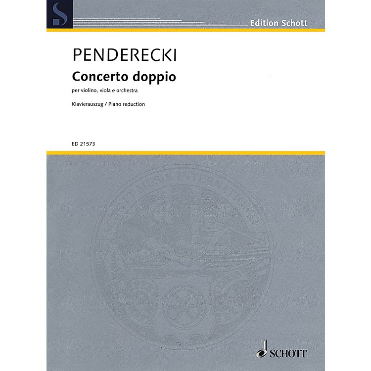 SchottConcerto Doppio String Series Softcover Composed by Krzysztof Penderecki
