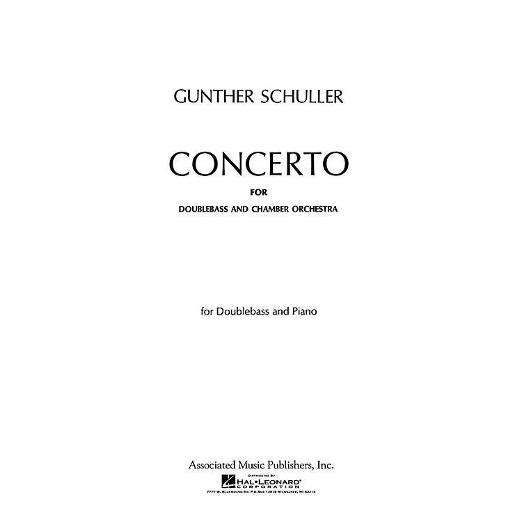 AssociatedConcerto (Double Bass Part) String Solo Series Composed by Gunther Schuller