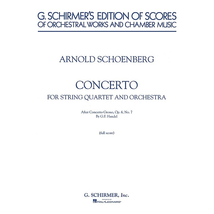 G. SchirmerConcerto (Full Score) Study Score Series Composed by Arnold Schoenberg