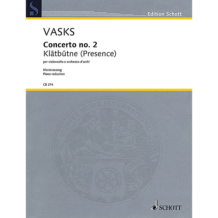 SchottConcerto No. 2 String Series Softcover Composed by Peteris Vasks Arranged by Sol Gabetta