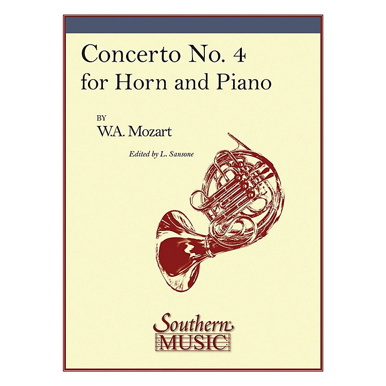 SouthernConcerto No. 4, K495 Southern Music Composed by Wolfgang Amadeus Mozart Arranged by Lorenzo Sansone