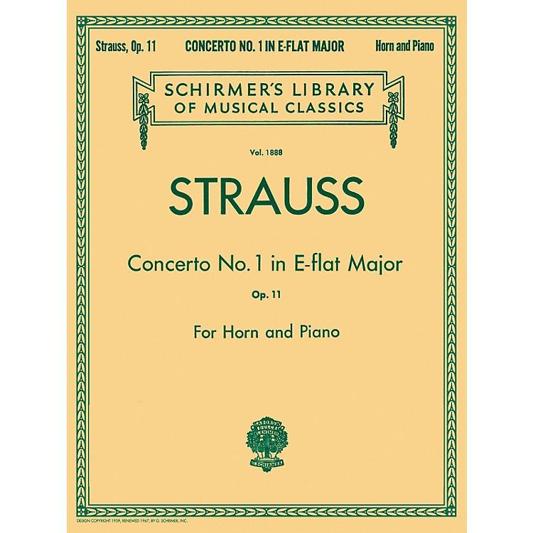 G. SchirmerConcerto No1 E Flat Major Horn Piano Op11