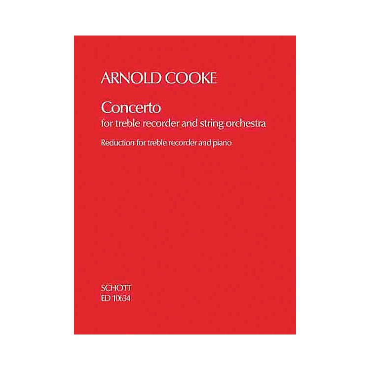 SchottConcerto (Treble Recorder and String Orchestra piano reduction) Schott Series