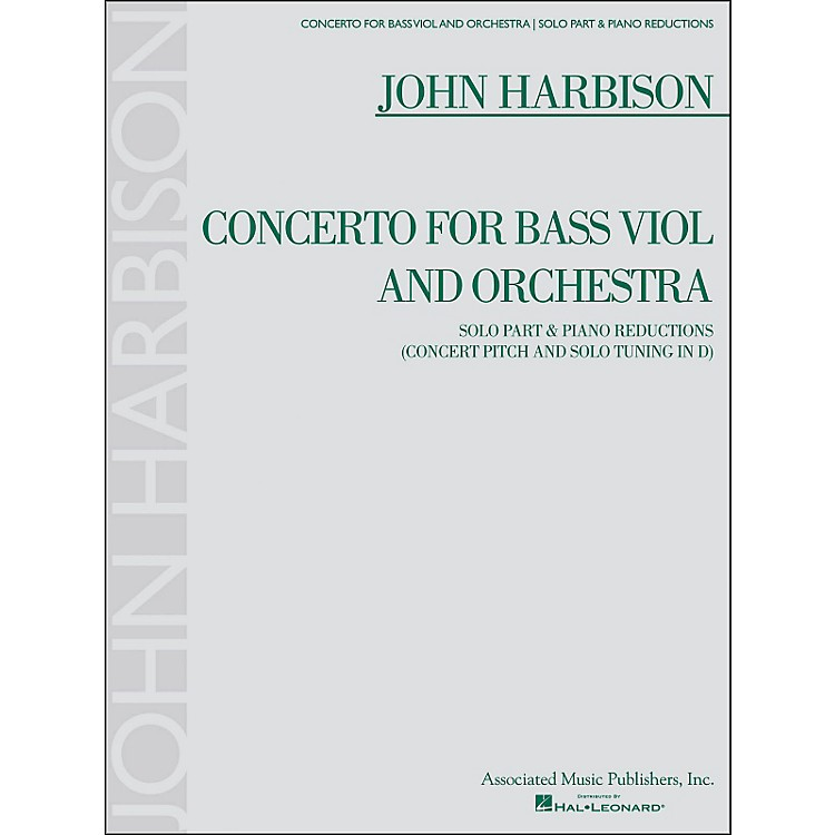 G. SchirmerConcerto for Bass Viol And Orchestra Double Bass And Piano Reductions By Harbison