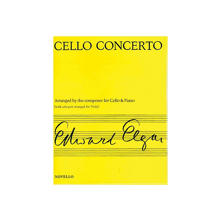 NovelloConcerto for Cello Op. 85 (Arranged for Viola & Piano) Music Sales America Series