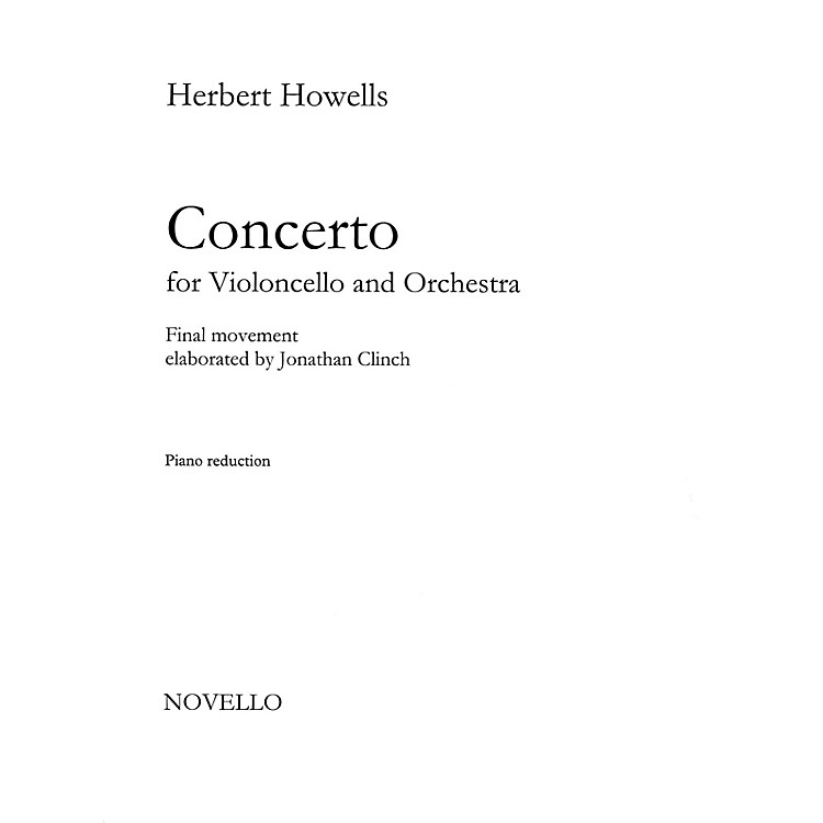 NovelloConcerto for Cello and Orchestra Music Sales America Series Softcover