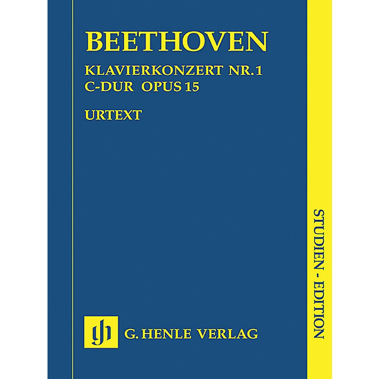 G. Henle VerlagConcerto for Piano and Orchestra C Major Op. 15, No. 1 (Study Score) Henle Study Scores Series Softcover