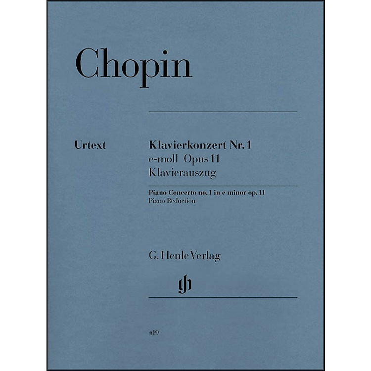 G. Henle VerlagConcerto for Piano and Orchestra E minor Op. 11, No. 1 By Chopin