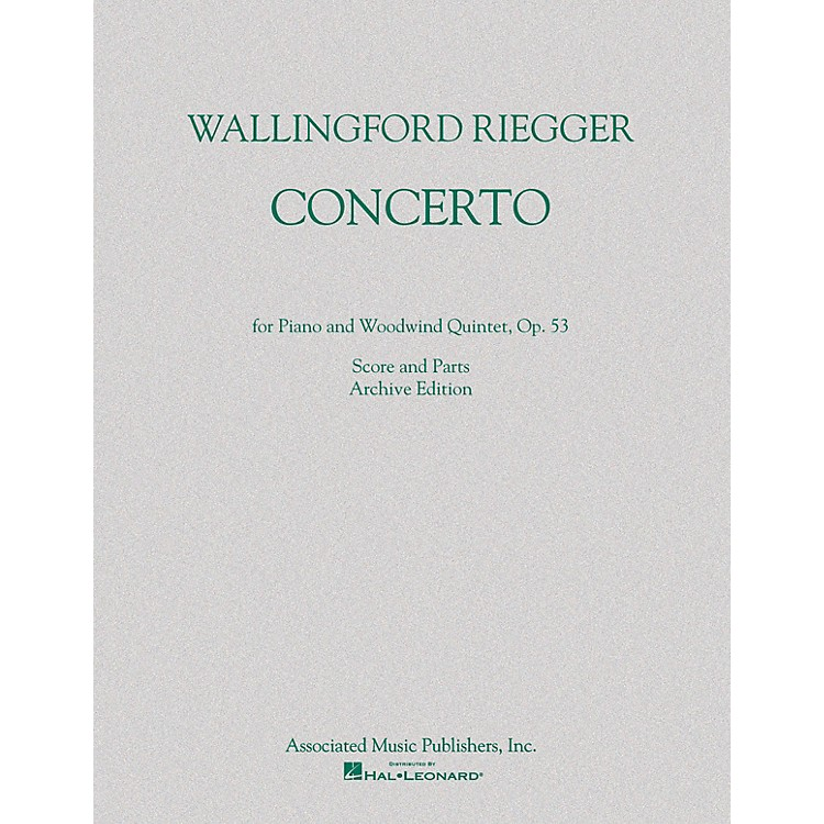 G. SchirmerConcerto for Piano and Woodwind Quintet, Op. 53 (Score and Parts) Ensemble Series by Wallingford Riegger