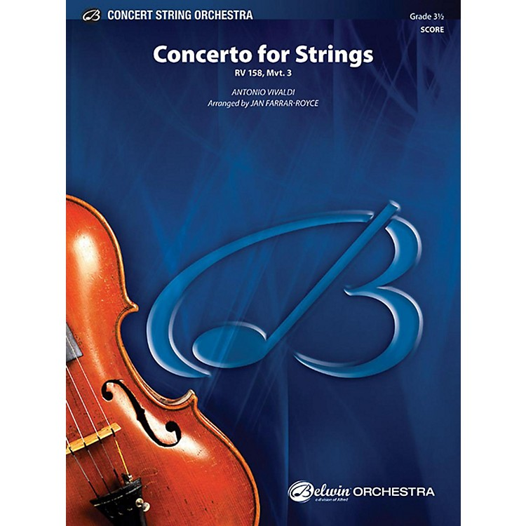 Alfred Concerto for Strings String Orchestra Grade 3.5