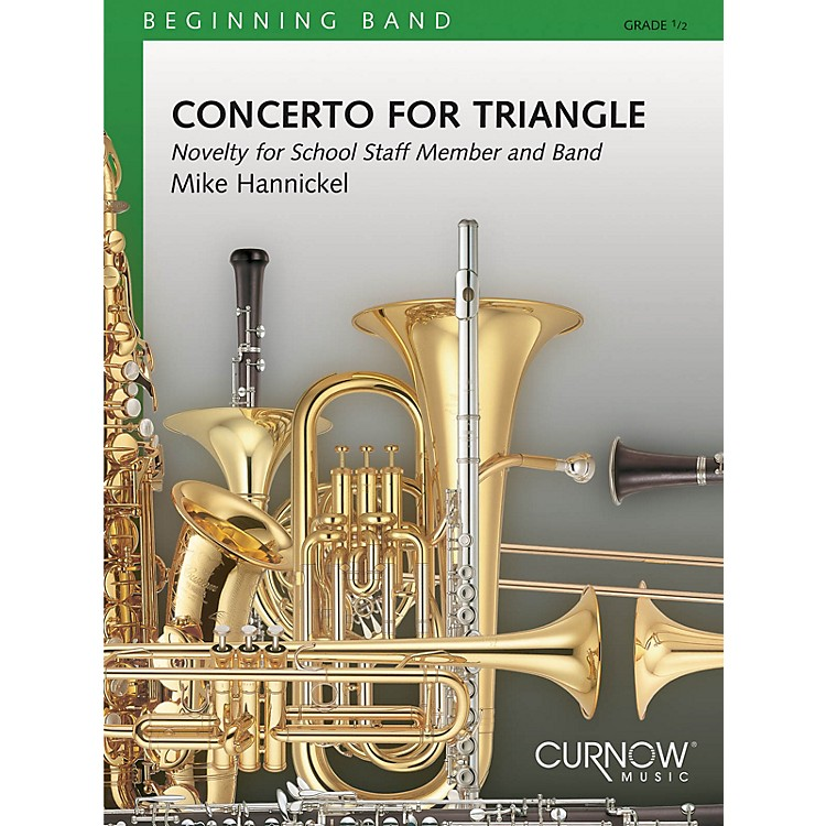 Curnow Music Concerto for Triangle and Band (Grade 0.5 - Score Only) Concert Band Level .5 Composed by Mike Hannickel