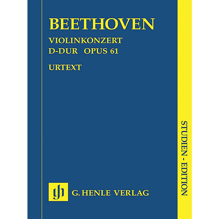 G. Henle VerlagConcerto for Violin in D Major Op. 61 (Study Score) Henle Study Scores Series Softcover