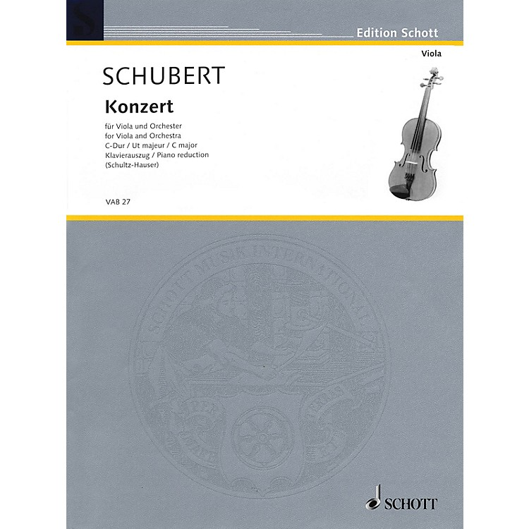 Schott Concerto in C Major Schott Series Composed by Joseph Schubert Arranged by Karlheinz Schultz-Hauser