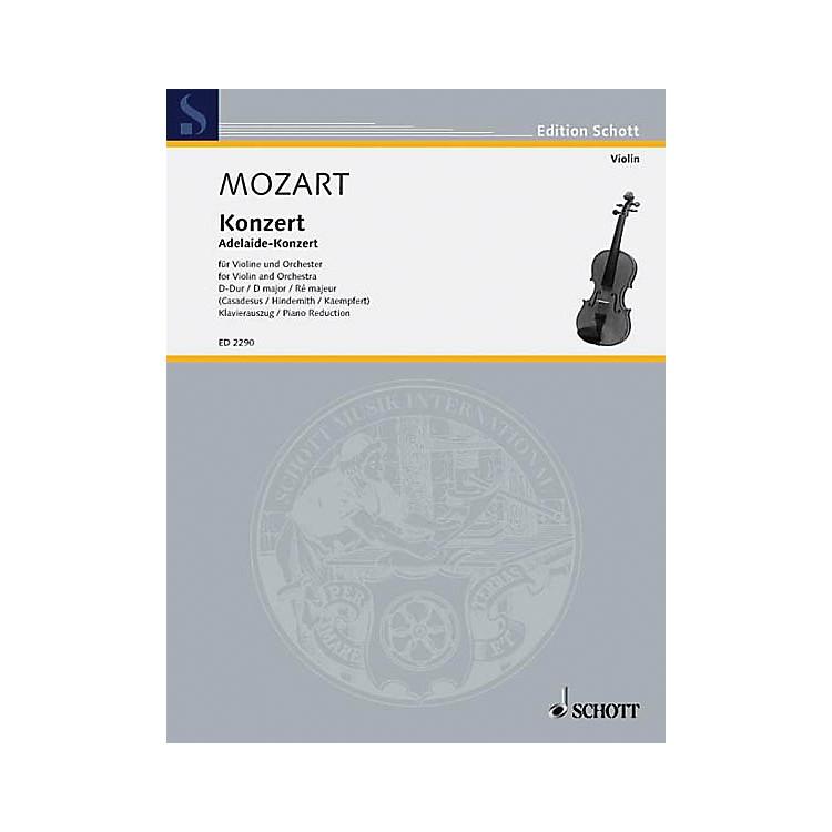 SchottConcerto in D Major, KV. 294a Schott Composed by Wolfgang Amadeus Mozart Arranged by Marius Casadesus