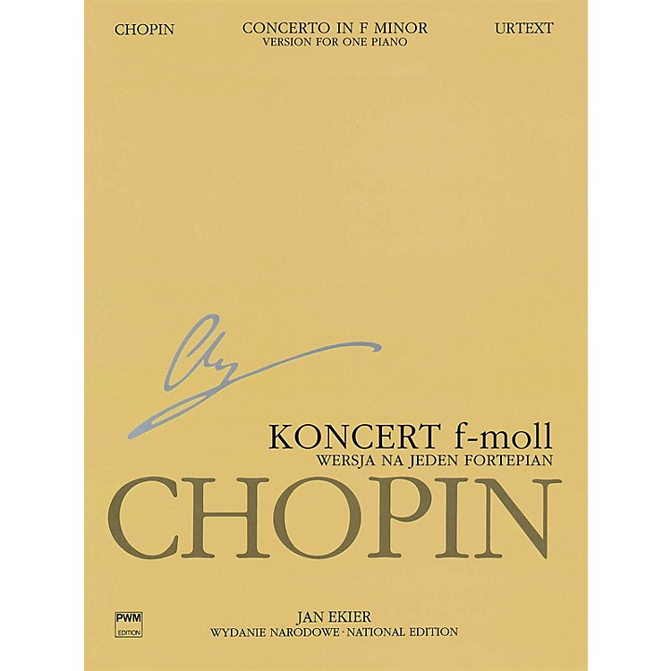 PWM Concerto in F Minor Op. 21 PWM Series Softcover Composed by Frédéric Chopin Edited by Jan Ekier