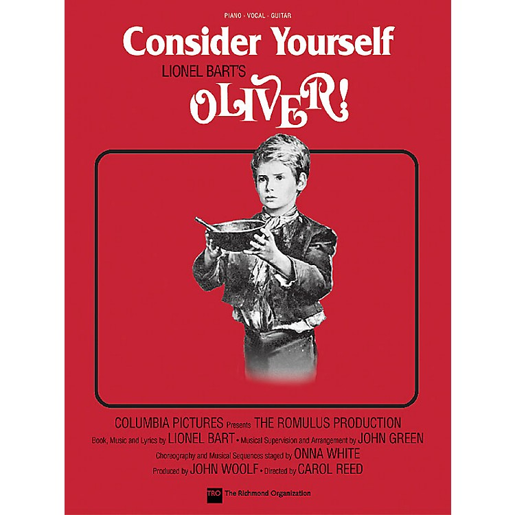 TRO ESSEX Music GroupConsider Yourself (from Oliver!) Richmond Music ¯ Sheet Music Series