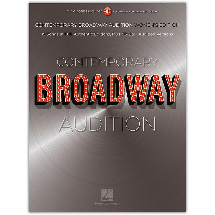 Hal LeonardContemporary Broadway Audition: Women's Edition - Book/Online Audio  Full Song + 16-Bar Version