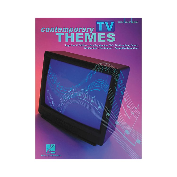 Hal Leonard Contemporary TV Themes Piano, Vocal, Guitar Songbook
