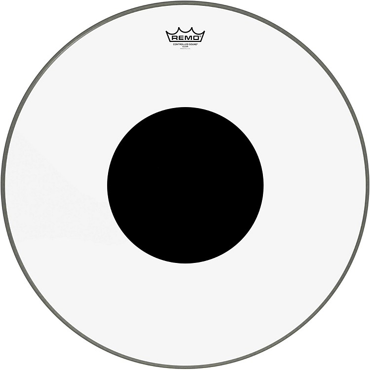 Remo Controlled Sound Clear with Black Dot Bass Drum  24 in.