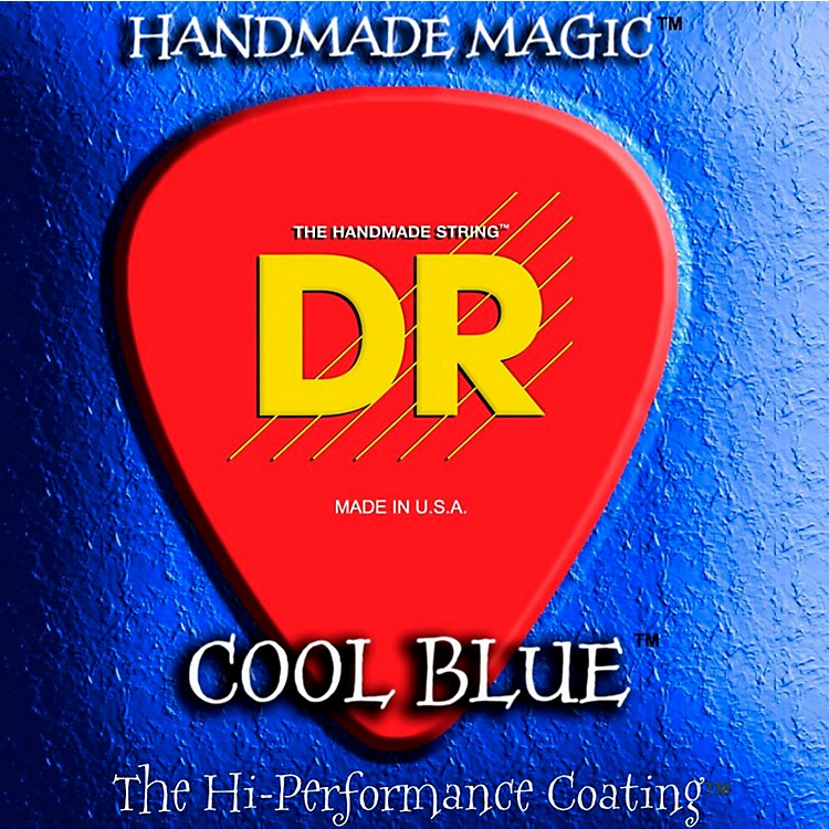 DR StringsCool Blue Coated Electric Strings Lite (9-42)
