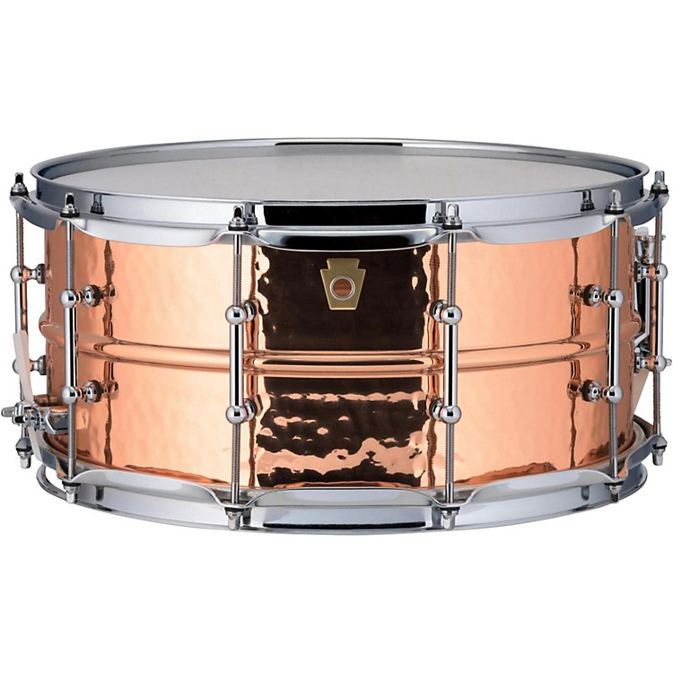 Ludwig Copper Phonic Hammered Snare Drum 14 x 6.5 in. Copper Finish with Tube Lugs