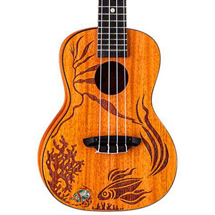 Luna GuitarsCoral Solid Mahogany Concert Ukulele