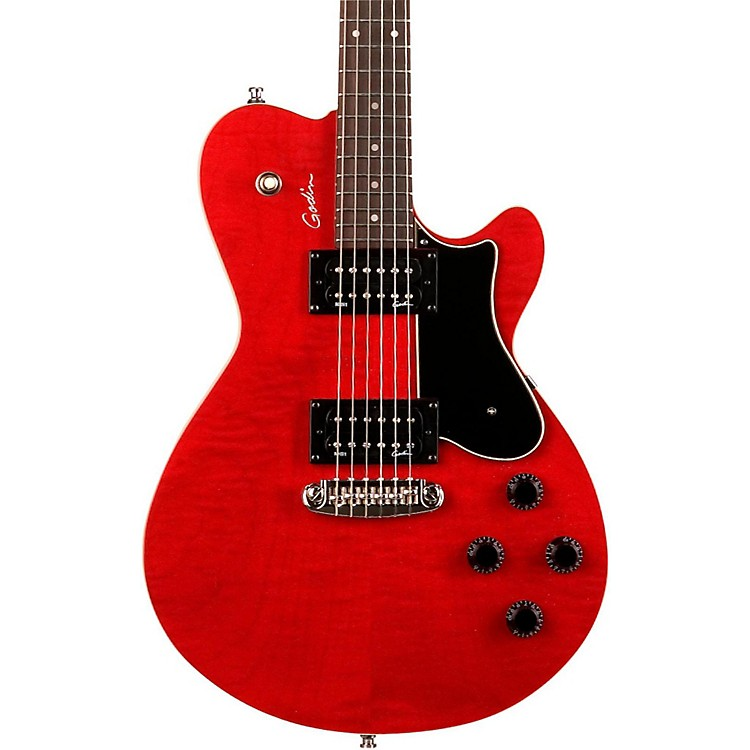 Godin Core HB GT Electric Guitar Transparent Red