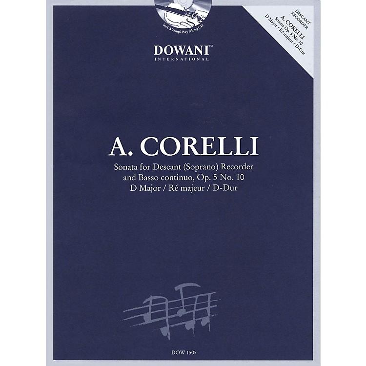 Dowani EditionsCorelli: Sonata for Descant (Soprano) Recorder & Basso Continuo Op. 5, No. 10 D Major Dowani Book/CD