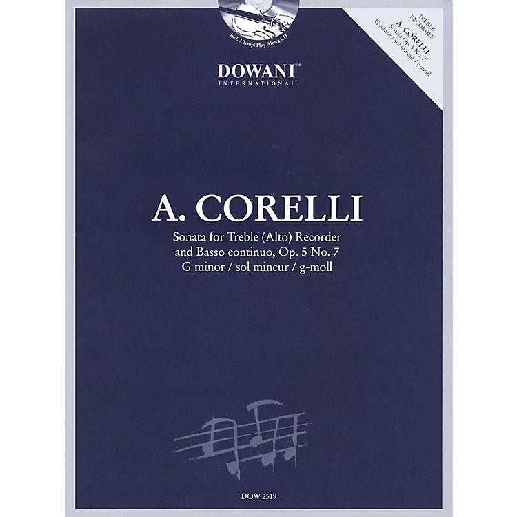 Dowani EditionsCorelli: Sonata for Treble (Alto) Recorder & Basso Continuo Op. 5, No. 7 G Minor Dowani Book/CD