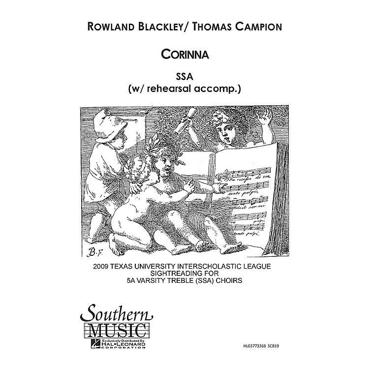 Hal LeonardCorinna (Choral Music/Octavo Secular Ssa) SSA Composed by Blackley, Rowland