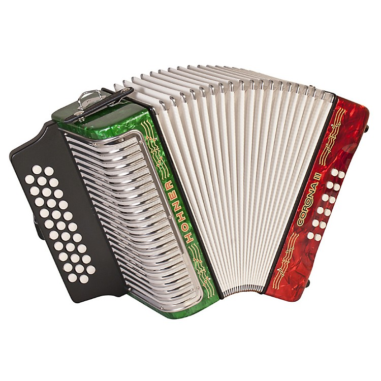 Hohner Corona II 3500 FBbEb Accordion Dark Blue 888365910314