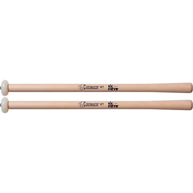 Vic Firth Corpsmaster Multi-Tenor Mallets Tapered Hickory Shaft  Extra Hard