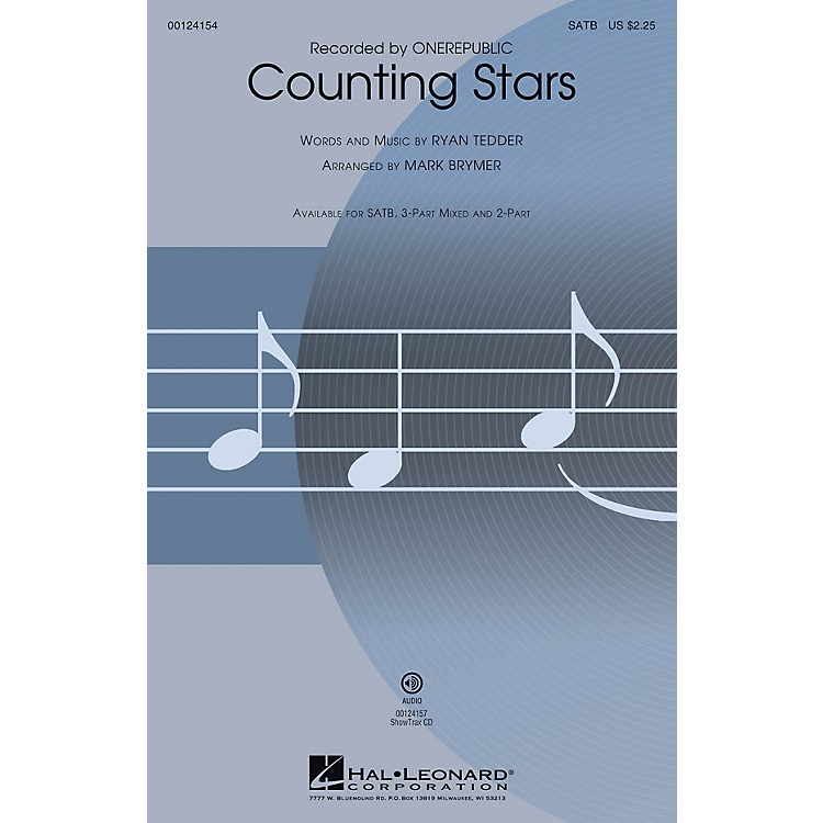 Hal Leonard Counting Stars 3-Part Mixed by OneRepublic Arranged by Mark Brymer