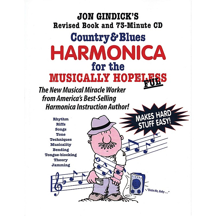 Cross Harp PressCountry & Blues Harmonica for the Musically Hopeless Music Sales America Softcover with CD by Jon Gindick