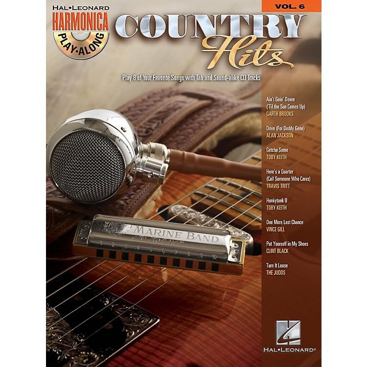 Hal LeonardCountry Hits (Harmonica Play-Along Volume 6) Harmonica Play-Along Series Softcover with CD